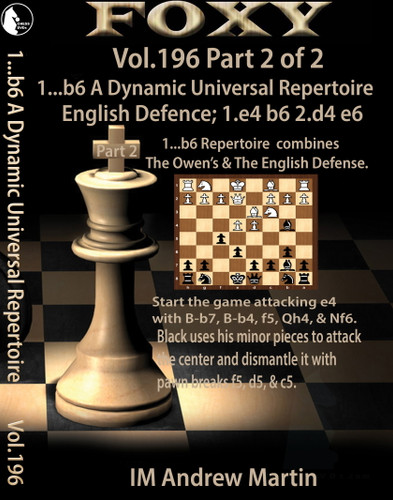 Copy of Foxy 196: 1...b6  A Dynamic Universal Repertoire: The English Defense - Chess Opening Video Download