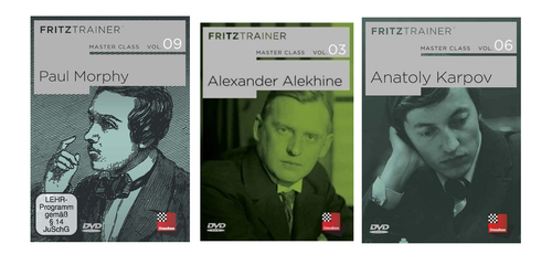 Master Class, Vol. 3, 6 & 9: AAlekhine, Karpov , Morphy Bundle - Chess Biography Software DVD