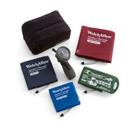 Welch Allyn DuraShock Aneroid Sphygmomanometer 4 Cuff Size Kit