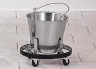Stainless Steel Kick Bucket & Mobile Frame- Clinton