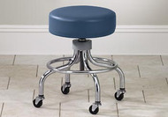 Clinton Chrome Base Stool Round Foot Ring 2102