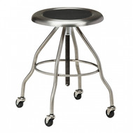 Clinton Stainless Steel Medical/Lab Stool With Casters