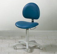 Clinton 5-Leg Pneumatic Stool with Contour Seat and Backrest (2195W-31)