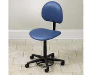 Clinton Hands-Free / Foot Operated Stool with Back (2145-W)