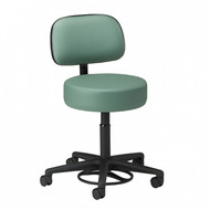 Clinton Hands-Free / Foot Operated Stool with Backrest (2145-21)