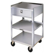 Compact Stainless Utility Cart with Drawer