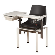Blood Drawing Chair with ClintonClean Flip Arm and Drawer (6049P)