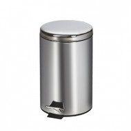Small Round Stainless Steel Waste Receptacle