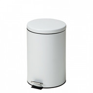 Medium Round White Waste Receptacle 20 Quart
