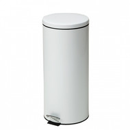 Large Round White Waste Receptacle - 32 Quart