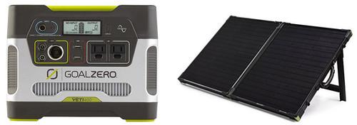 Goal Zero Yeti 400 Solar Generator & Boulder 100W Folding Solar Panel - Kit