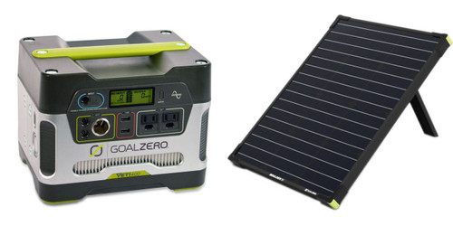 Goal Zero Yeti 400 Solar Generator & Boulder 50W Solar Panel - Kit