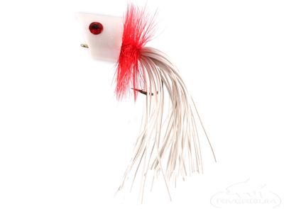 Panfish Popper, Foam, White/Red