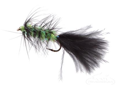 Krystal Flash Bugger, Black/Chartreuse Body