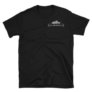 RiverBum Trout Black 100% Cotton T-Shirt