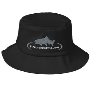 Black Old School Bucket Hat