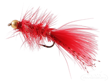 Krystal Flash Bugger, Bead Head, Red