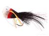 Bass Popper, Deer Hair, Black-Red