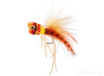 Bass Popper, Redhead, Orange