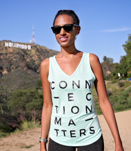 CONNECTION MATTERS - Flowy V Neck Tank Top