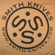 SK Gear - Smith Knives T-Shirt - Black on Tan - SK9999-TST
