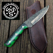"Lacy Smith - ""Cottaquilla"" Damascus Skinner - SK1704358-FLS"