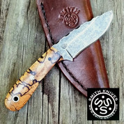 "Lacy Smith - ""LIL Cheaha"" Stonewashed 5160 Drop Point - SK1806423-FLS"
