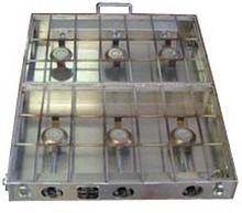 "This folding stove is 26"" wide, and has 6 burners. This stove is designed for use with a stove stand and larger groups."