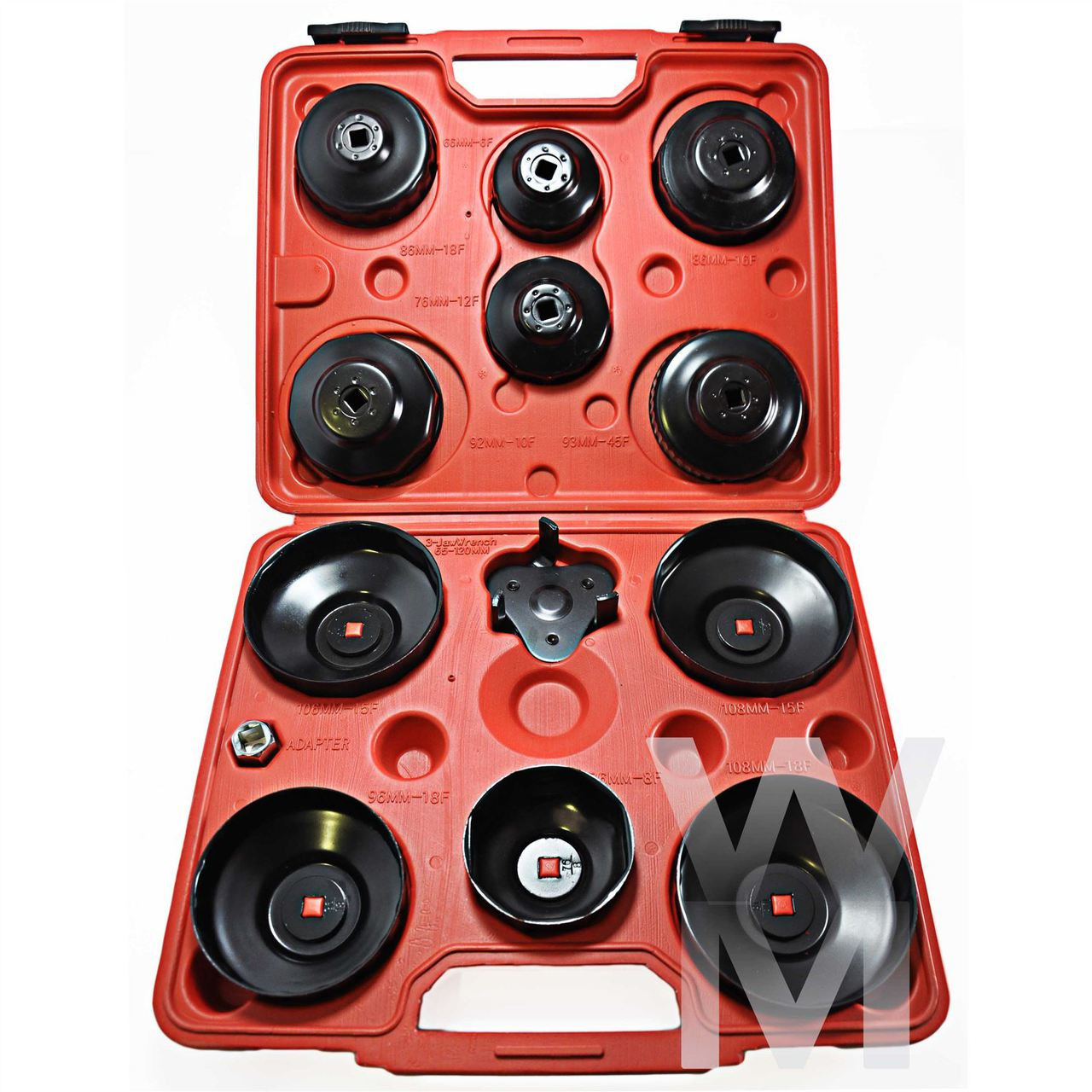 NEW 13 PCS Cup Type Oil Filter Wrench Removal Puller Tool Kit Set Adaptor  3/8\