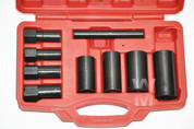 9pc Wheel Lock Removal Impact Socket Set / Hub Cap Remover Replacer