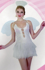 Sexy Snow Angel Costume with Glitter wings and Halo.