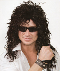 Rock God Black Mullet Wig (used for Kiss, Slash, 80's)