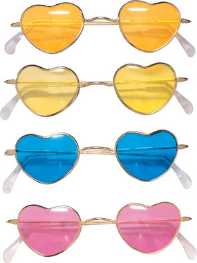 Heart-Shaped Hippy Sunglasses