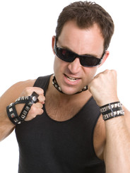 Punk Set.   Sunglasses, Studded Cuff, Choker and Handcover