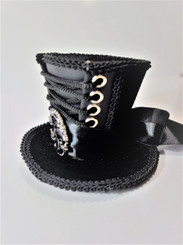 Steampunk Mini Top Hat with lacing and buckle