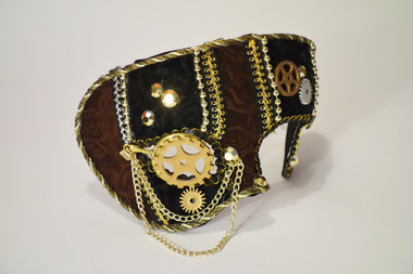 Steampunk Masquerade Mask with Gear Wheel