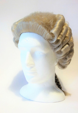 Grey Barrister's  Wig for Hire