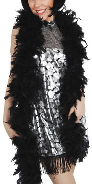 Black Feather Boa - 2 Metres long 80g in weight