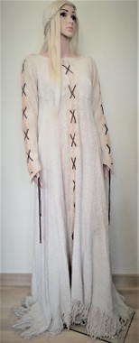 Cream Medieval peasants dress for Hire