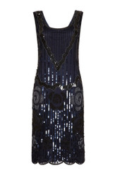 Gatsby Dress in Size 18 to Hire - Navy Black