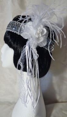 Beautiful elaborate fabric rose 1920's headdress