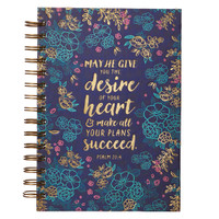 DESIRE OF THE HEART PSALM 20:4 WIREBOUND JOURNAL