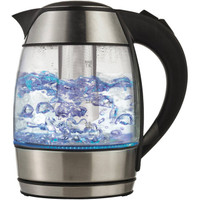 ELECTRIC GLASS KETTLE WITH TEA INFUSER BLACK