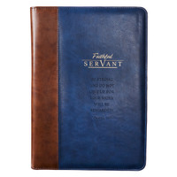FAITHFUL SERVANT LEGAL SIZED ZIPPERED PORTFOLIO  - 2 CHRONICLES 15:7