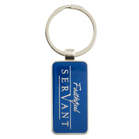 FAITHFUL SERVANT - CHRONICLES 15:7 KEYRING IN TIN