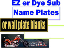 "EZ er Name Plate Blanks for Dye Sublimation 2"" X 10"""