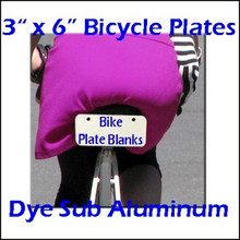 """Dye Sublimation Products 3"""" x 6"""" Aluminum Bicycle Plate Blanks, .032"""" Thick"""