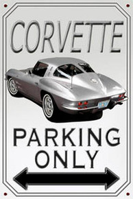 Corvette Parking Sign -Photo Realistic