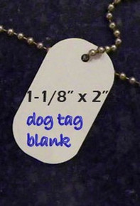 Aluminmum Dog Tag/ID Tag Blanks for Dye Sublimation- Lot of 50