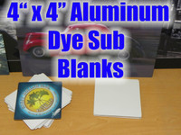 "Aluminum 4""X 4"" HIgh Gloss Dye Sublimation Tile Blanks- Lots of 5 PCs"